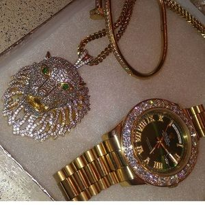 Rolex watch with Matching chain and pendant
